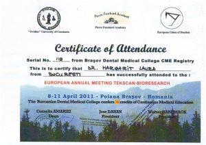 Certificat-de-participare-la-congresul-European-Annual-Metting-Tekscan-Bioresearch
