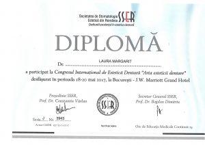 Diploma participare Congres Estetica Dentara