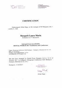 diploma participare curs Budapesta