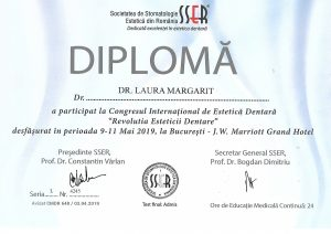 diploma congres international estetica dentara
